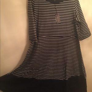 Tommy Hilfiger Blue and White fit and flare dress